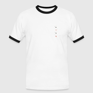 4as - T-shirt contrasté Homme