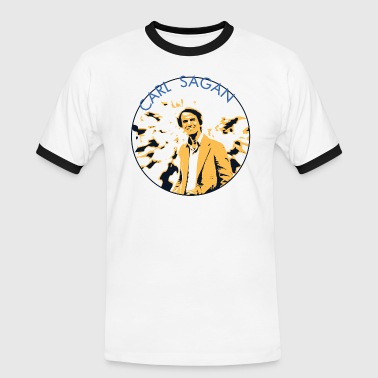 Carl Vintage Carl Sagan  - Men's Ringer Shirt