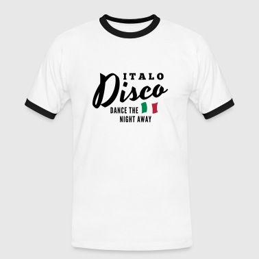 Italo Disco - Dance The Night Away - T-shirt contrasté Homme