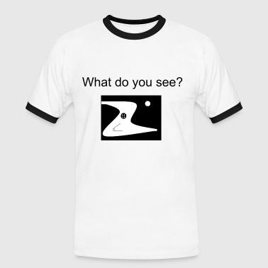 What do you see? - Kontrast-T-skjorte for menn
