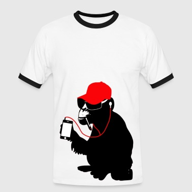 homeboy monkey - Männer Kontrast-T-Shirt
