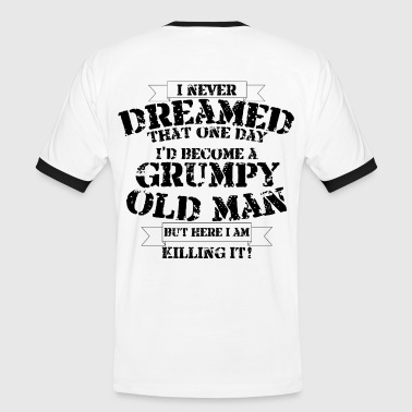 Funny Coffee Grumpy Old Man - Men's Ringer Shirt