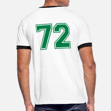 Number 72 72 - Men's Ringer Shirt