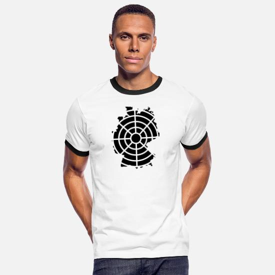 Crosshair T-Shirts - Germany in the crosshairs - Men's Ringer T-Shirt white/black