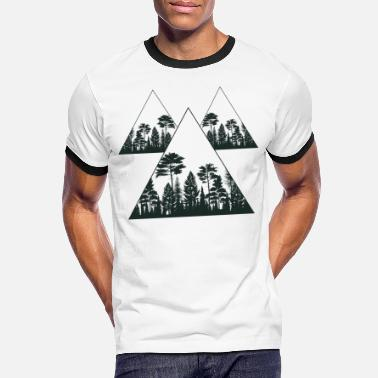 Caravan Geometric Forest Adventure Mountains Camping Gift - Men's Ringer T-Shirt