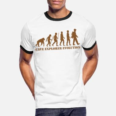 Rappel cave explorer evolution cave-researcher monkey - Men's Ringer T-Shirt