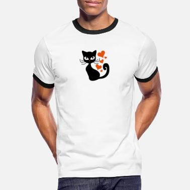 cat Cats Kitten Love - Men's Ringer T-Shirt