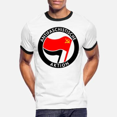 Antifa Antifa Logo - Hammer & Sickle - Men's Ringer T-Shirt