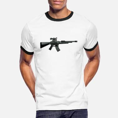 Submachine Gun Submachine gun men - Men's Ringer T-Shirt