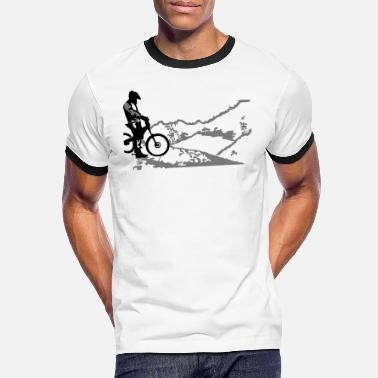 Lago Di Garda downhill at lago di garda - Men's Ringer T-Shirt
