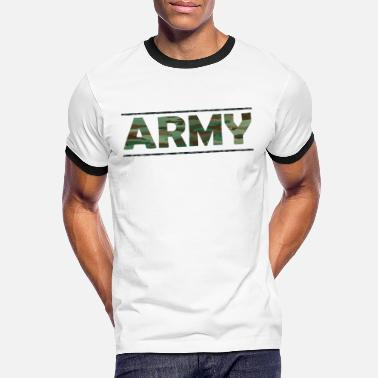 Army Reserve ARMY / Army / Bundeswehr / Camouflage - Men's Ringer T-Shirt