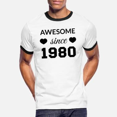 Awesome Since awesome since 1980 - Men's Ringer T-Shirt