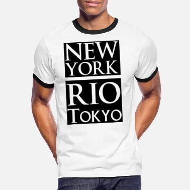 New York Jets New York, Rio, Tokyo - T-shirt contrasté Homme