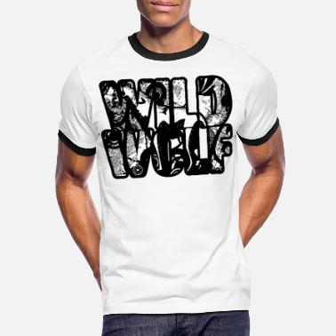 Teen Wild Wolf - Wild Animals - Wolves and Wildlife - Mannen ringer T-shirt