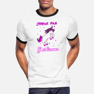 I Can Not I Have Aqua Pony I can not have unicorn - Men's Ringer T-Shirt