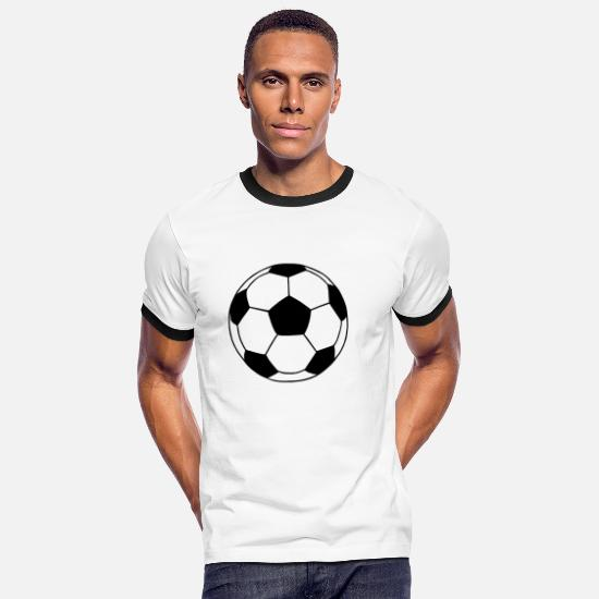 Football T-Shirts - Football - Men's Ringer T-Shirt white/black