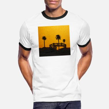 Bello Illustration d'un paysage tropical - T-shirt contrasté Homme