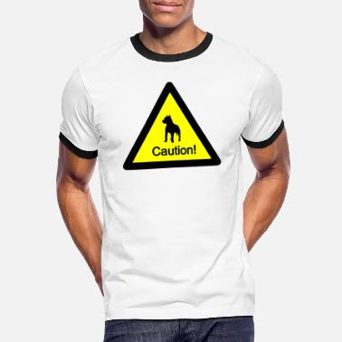 Caution caution - Männer Ringer T-Shirt