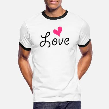 Love With Heart Love with heart - Mannen ringer T-shirt
