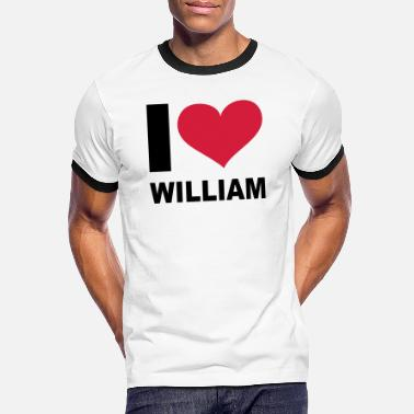 Williams I love William, Windsors, Prince William, William, - Kontrast T-skjorte for menn