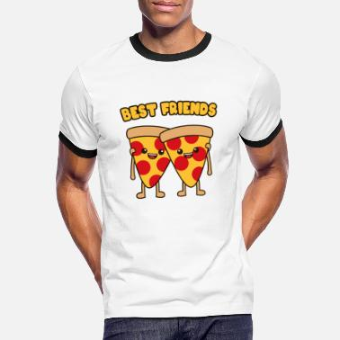 Friends Best friends pizza - Men's Ringer T-Shirt