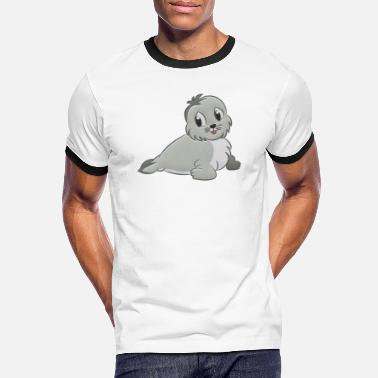 Seal-animal Seal stuffed animal - Men's Ringer T-Shirt