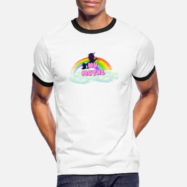 Metal Unicorn Nu Metal Rainbow Unicorn Space - Men's Ringer T-Shirt