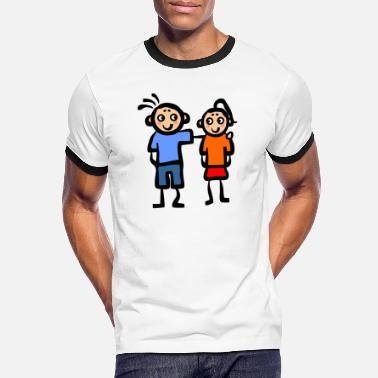 Parentesco Amor abrazo boda, parentesco parentesco - Camiseta contraste hombre