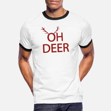 Oh Oh Deer | Animal Fashion - Kontrast T-skjorte for menn