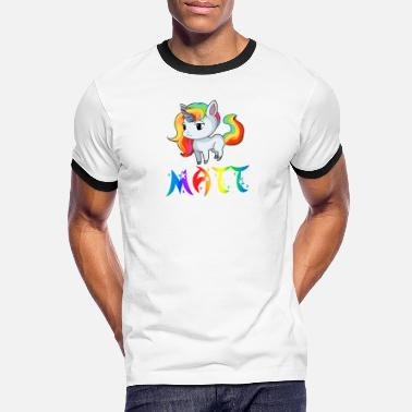 Matt Unicorn Matt - Men's Ringer T-Shirt