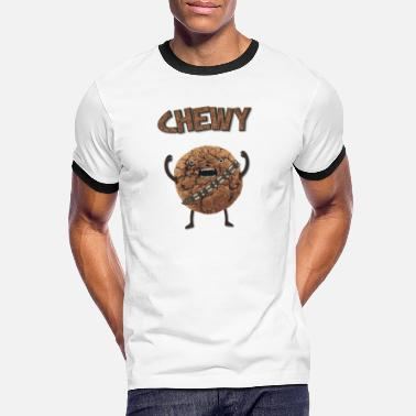 Monster Funny Nerd Humor - Chewy Chocolate Cookie Wookiee - Men's Ringer T-Shirt
