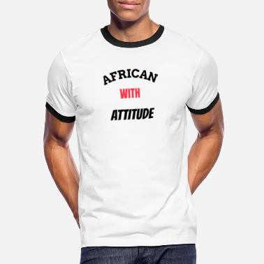 Afro african with attitude - T-shirt contrasté Homme