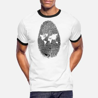 Stylish FINGERPRINT MODERN TREND T-SHIRT - Men's Ringer T-Shirt