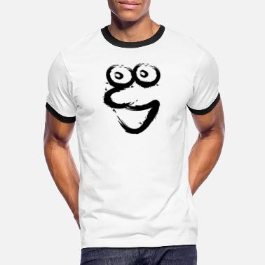 Brush With Face Face brush funny cartoon fashion - Men's Ringer T-Shirt