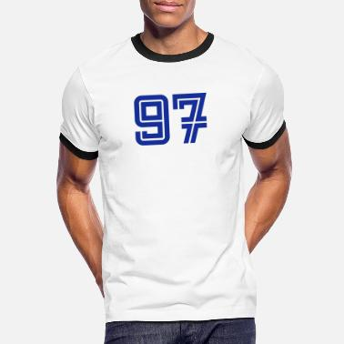 97 College Numbers, Nummern, Sports Numbers, 97 - Men's Ringer T-Shirt