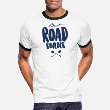 Construction De Routes Construction de routes construction de routes construction de routes équipe de route - T-shirt contrasté Homme