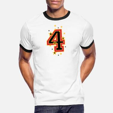 Four Elements Number Four 4 - Kontrast T-shirt mænd