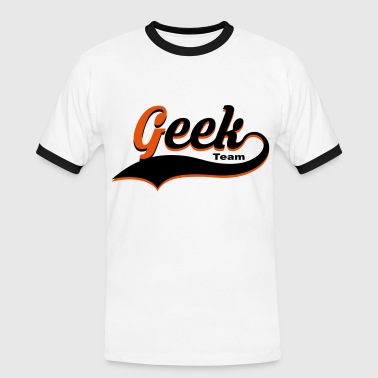 geek vector design - T-shirt contrasté Homme
