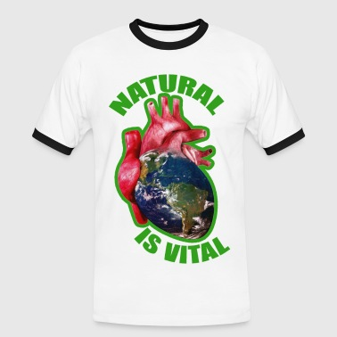 natural is vital - T-shirt contrasté Homme