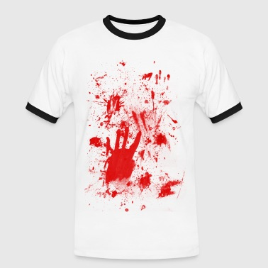 Splashes of blood / blood Smeared - Männer Kontrast-T-Shirt