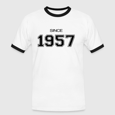 birthday gift 1957 - Men's Ringer Shirt