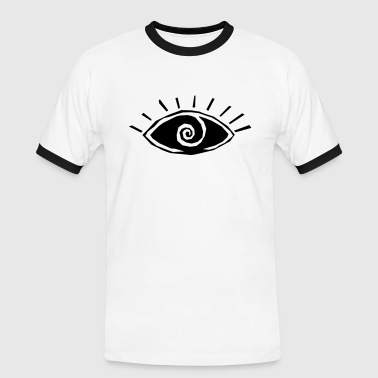 Eye, vision, all seeing eye, spiral, god, third - Men's Ringer Shirt