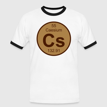 Caesium (Cs) (element 55) - Men's Ringer Shirt