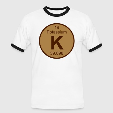 Element 19 - k (potassium) - Round (white) - T-shirt contrasté Homme