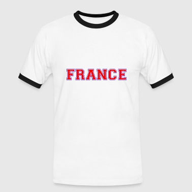 france - Herre kontrast-T-shirt