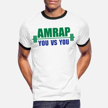 Exercise AMRAP As Many Reps As Possible - Men's Ringer T-Shirt