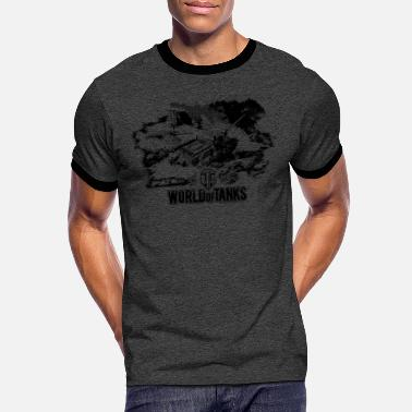 Wot16 World of Tanks - Battlefield black - Men's Ringer T-Shirt