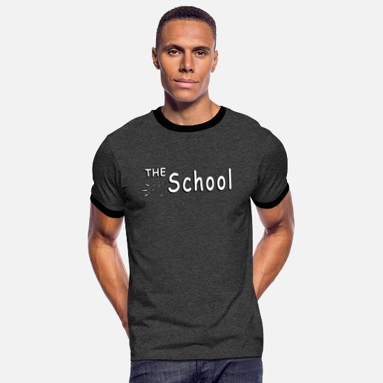 Gift Idea T-Shirts - The School - Men's Ringer T-Shirt charcoal/black