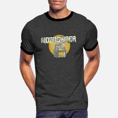 Outlaw Moonshine Alcohol Outlaw Moonshiner Beverages Gift - Men's Ringer T-Shirt