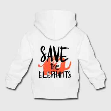 Save the Elephants - Pull à capuche Premium Enfant